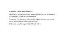 22B108 D-K. Heráclito de Éfeso
