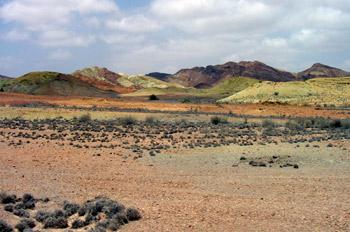 Paisaje del desierto, Rep. de Djibouti, áfrica
