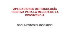 DOCUMENTOS ELABORADOS EN EL SEMINARIO DEL BIENESTAR