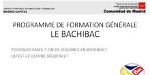 Bachibac - Qu'est-ce qu'une séquence?