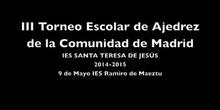 III Torneo escolar de ajedrez de la Comunidad de Madrid