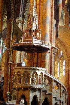 Púlpito, Catedral de San Matías, Budapest, Hungría
