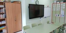 Aula de audición y lenguaje. Monitor interactivo.