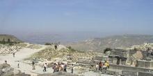 Vista panorámica desde un camino en la antigua Gadara, Jordania