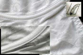 Confección de vaina para aro de sostén