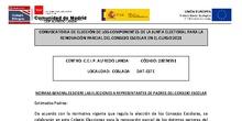NORMAS GENERALES SOBRE LAS ELECCIONES A REPRESENTANTES DE PADRES DEL CONSEJO ESCOLAR