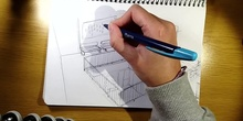 Drawing the school from memory - Dibujando el instituto de memoria