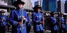 Desfile de una banda de música
