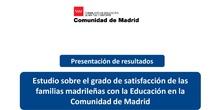 Resultados Encuesta familias sobre Educación en Madrid