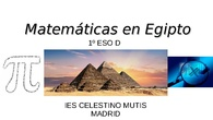 Matemáticas en Egipto