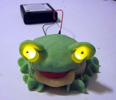 conductive dough frog