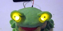 conductive dough frog