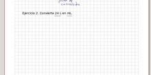 Conversión de unidades - Ejercicio 2