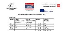 ENTRADAS SALIDAS COLEGIO