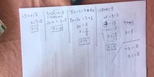 Comprobación de ecuaciones de primer grado
