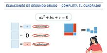 Ecuaciones de segundo grado - ¡Completa el cuadrado!