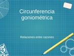 Razones trigonométricas en la circunferencia goniométrica