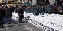 Homenaje a las fuerzas de seguridad en la Puerta del Sol, Madrid