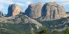 Las Rocas de Benet, vistas desde Horta de Sant Joan, Tarragona