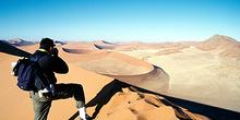 Fotógrafo en el desierto, Namibia