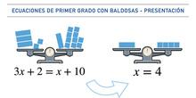 Ecuaciones de primer grado con baldosas - Presentación