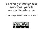 Educación emocional (resumen teórico)