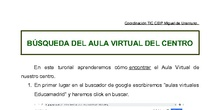 BÚSQUEDA AULA VIRTUAL EDUCAMADRID