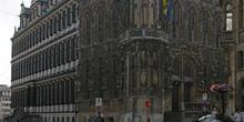 Ayuntamiento en el barrio de Emile Braun, Gante, Bélgica