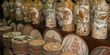 Objetos de una tienda de artesanía árabe