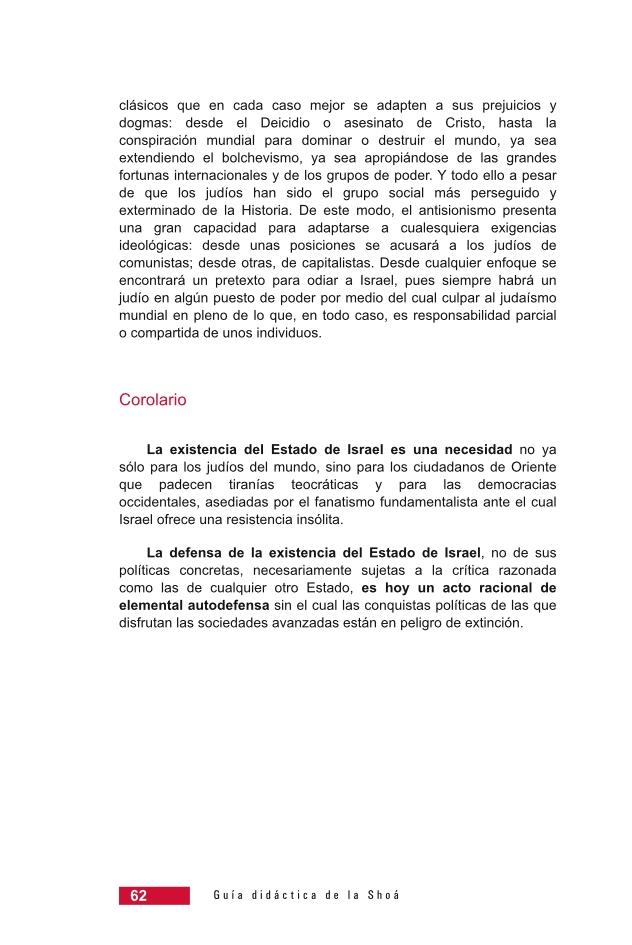 Página 62 de la Guía didáctica de la Shoá
