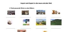 Import und Export in die neue und alte Welt (Arbeitsblatt) - 3º ESO