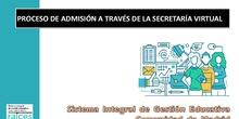 Proceso de admisión a través de la secretaría virtual