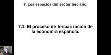 0701 La terciarización en España