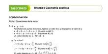 Soluciones fichas de Geometría Analítica