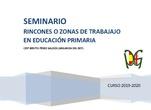 Rincones o zonas de trabajo en educación primaria