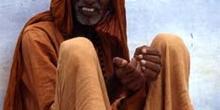 Retrato de hombre sentado, Pushkar, India