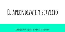 #ApsCRIF- El Aprendizaje y Servicio