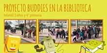 Proyecto Buddies en la biblioteca 3 años y 4º (marzo 2018)