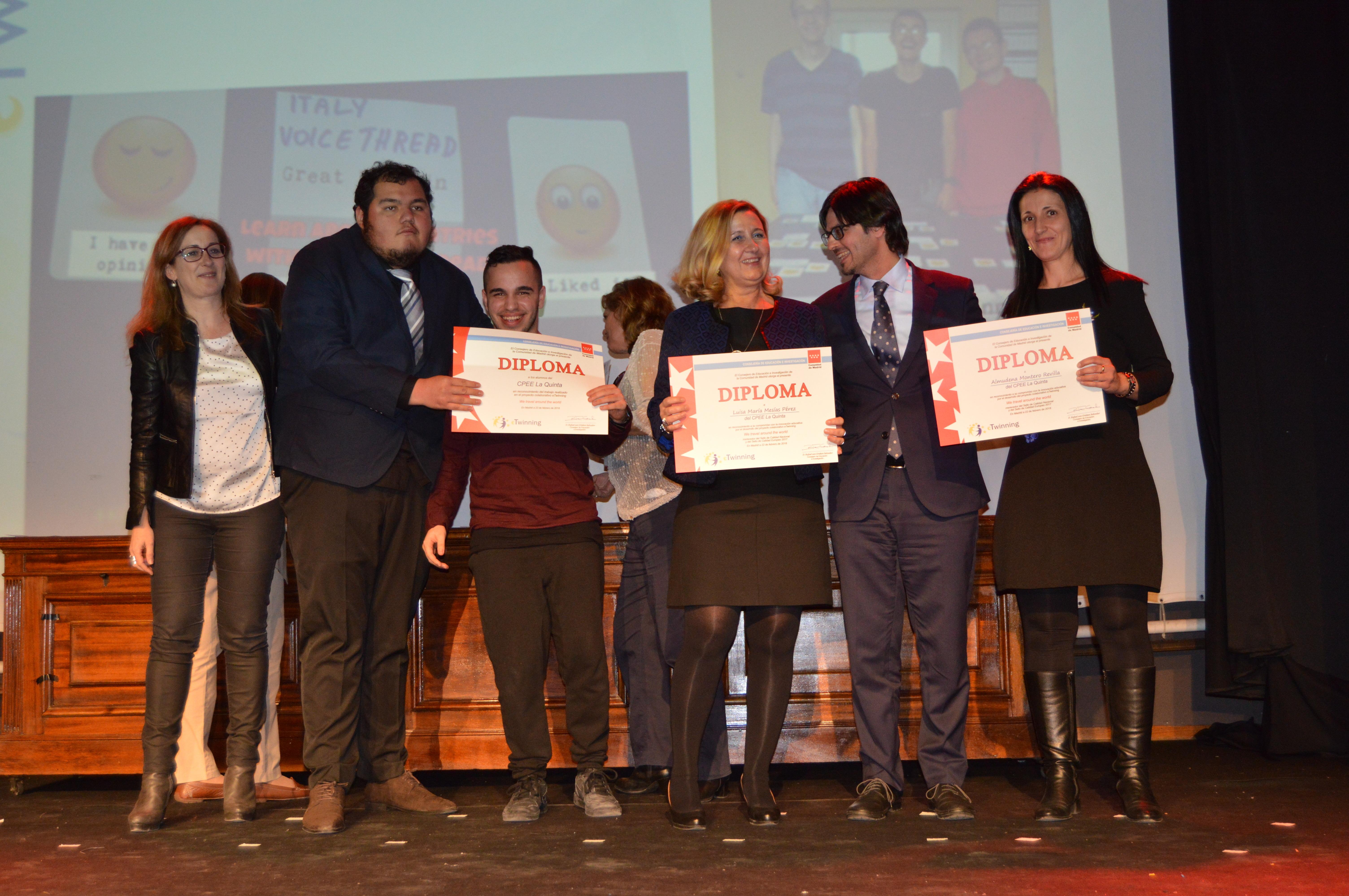 Entrega diplomas II Edición Reconocimiento Sellos de Calidad eTwinning Comunidad de Madrid 10
