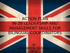 IN-29 ACTION PLAN PEDAGOGICAL ORIENTATIONS FOR BILINGUAL SECTION
