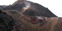 Conos de escoria y lava en Volcán Chico en Isla Isabela, Ecuador