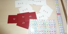 juego de fichas para repasar las tablas