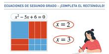Ecuaciones de segundo grado - ¡Completa el rectángulo!