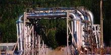 Canalizaciones de la estación geotérmica de Mokai, Nueva Zelanda