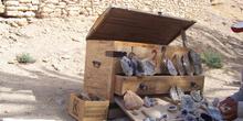 Baúl con piedras, Oasis de montaña de Chébika, Túnez