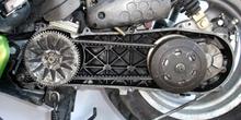 Ciclomotor. Correa de transmisión