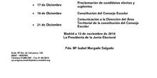 Calendario elecciones al consejo escolar
