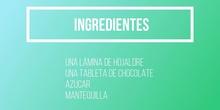 Como hacer palmeritas de chocolate