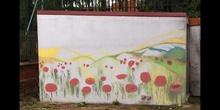 Un mural en el jardín