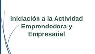 Actividad empresarial y emprendedora